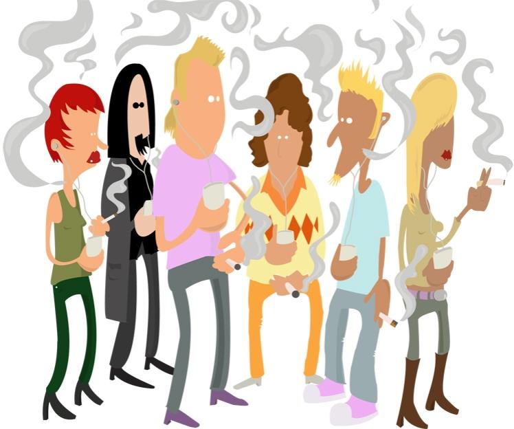 Fumeurs-dessin